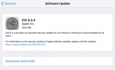 Yet another incremental update for iPhones and iPads released