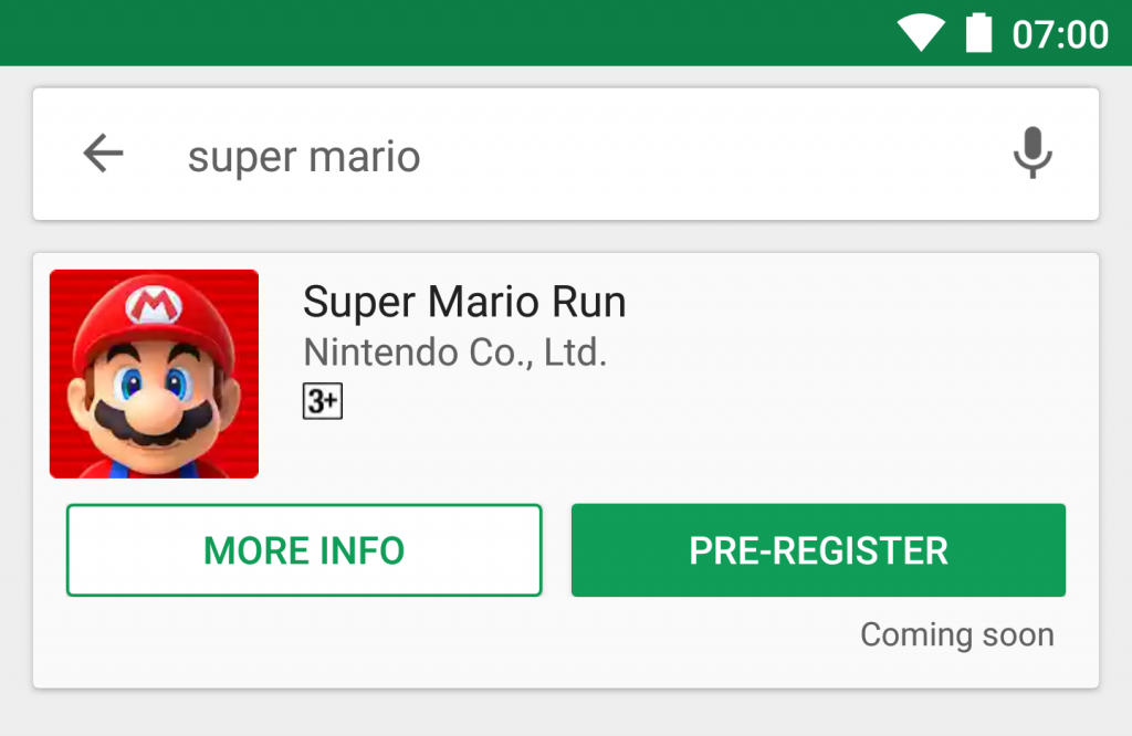 Be the first to know when Super Mario Run comes to Android