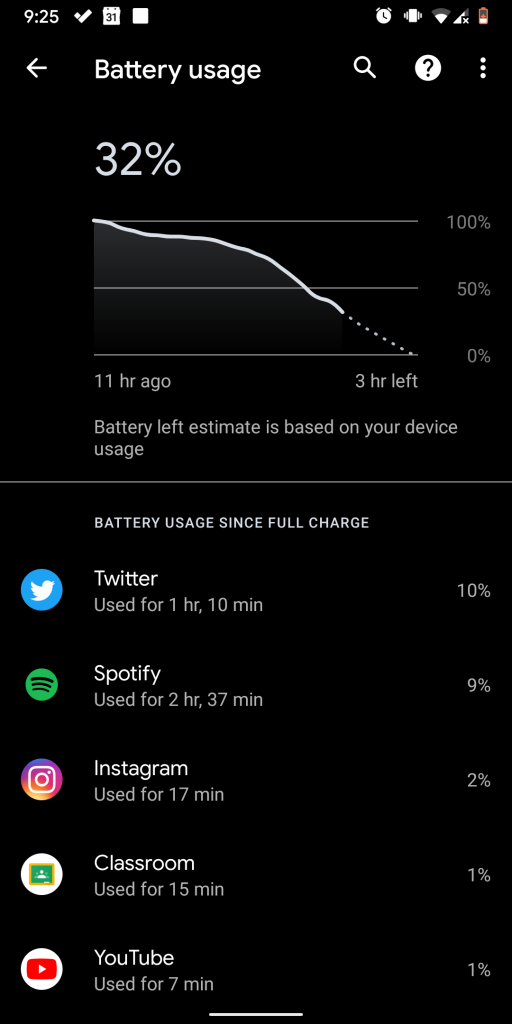 Battery Life Update